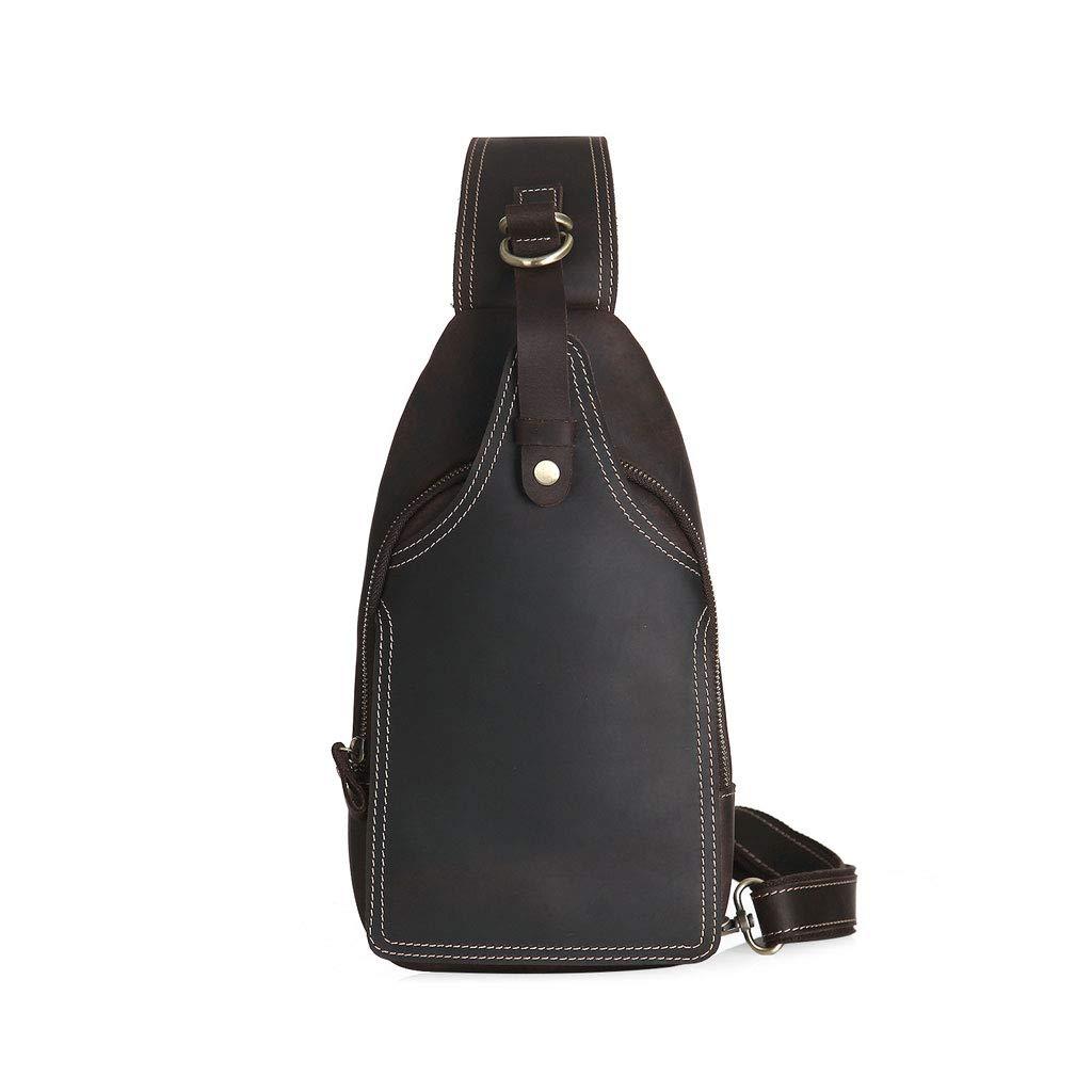 Mens Waterproof Chest Bag Messenger Bag Color : Black, Size : M Multi-Function Riding Shoulder Backpack