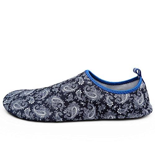 EQUICK Frauen Wasser Schuhe Quick-Dry Verschnaufpause Sport Haut Schuhe Barfuß Anti-Rutsch-Multifunktionssocken Yoga Übung S2 Grau