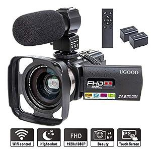 Camcorder Video Camera UGOOD 24 MP Full HD 1080P IR Night