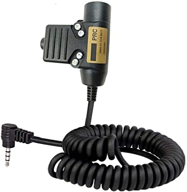 Civilian Wired Armorwerx U94 PTT System for Peltor Comtac//MSA Sordin Compatible with 3.5mm Yaesu Threaded Radio