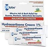 Hydrocortisone Maximum Strength Cream 1% with Aloe, 3 OZ