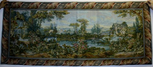 Beautiful French Garden Design Wall Hanging Tapestry, Size 36
