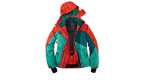 Crivit Sports - Chaqueta de deportes de nieve para mujer, Mujer, color rojo/verde, tamaño 44: Amazon.es: Ropa y accesorios