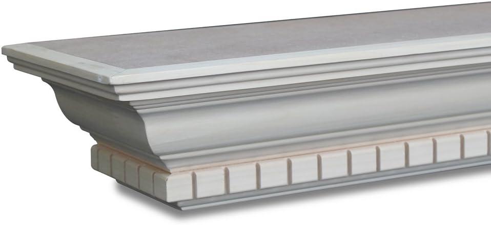 Winfield Mantel Shelf 72in W x 7-3/4in D x 4-3/8in H Poplar