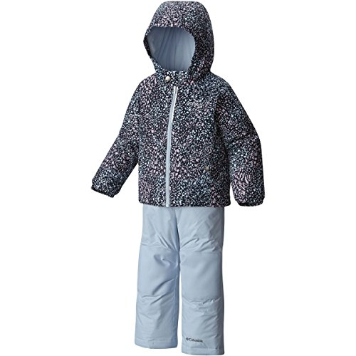 Columbia Toddler Girls' Frosty Slope Set, Faded Sky Snow Splatter, 4T