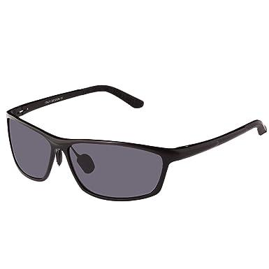 96adeff36a Duco Men s Sports Style Polarized Sunglasses Driver Glasses 2179S (Black  Frame Grey Lenses)