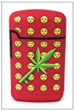 Smokemoji Jet Flame Torch Lighter Adjustable Flame Windproof Butane Refillable (Red)