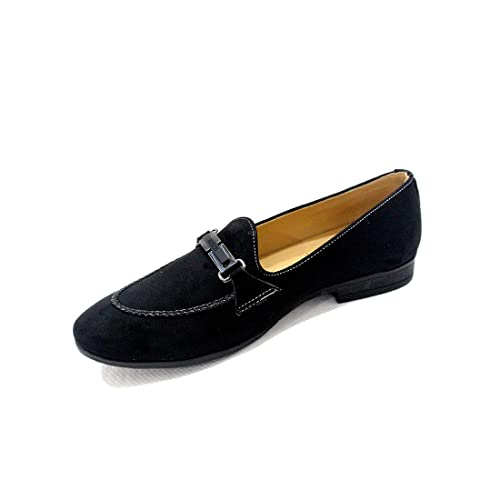 41d05aaf286 Mytrendsetter Men s Black Velvet Loafers- MYTS T-11  Buy Online at ...