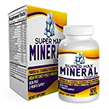 2-Month Multi Mineral Supplement (Iron Free) with 72 Trace Minerals – Supplements – Natural Multiminerals – Multimineral Complex – 120 Tablets