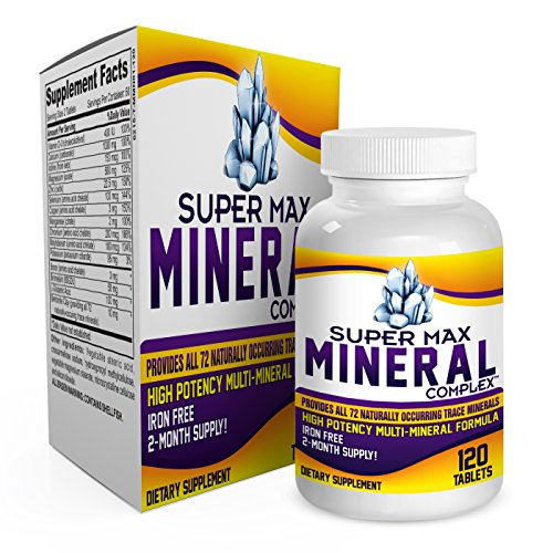 (2-Month Multi Mineral Supplement (Iron Free) with 72 Trace Minerals - Supplements - Natural Multiminerals - Multimineral Complex - 120 Tablets)