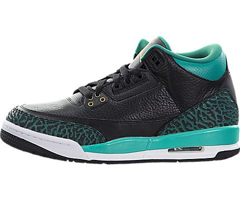 Nike Jordan Kids Air Jordan 3 Retro Gg Black/Metallic Gold Rio Teal Basketball Shoe 6.5 Kids US by Jordan