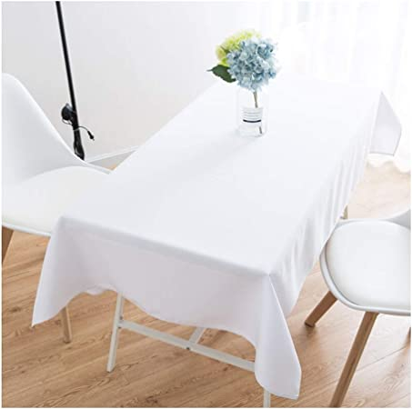 WYGG Mantel Blanco Rectangular, Mantel de algodón y Lino Liso, Mantel de Restaurante del Restaurante del Hotel, Mantel de decoración para el hogar (Color: Blanco) (Tamaño : 140 * 180cm): Amazon.es: Hogar