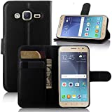 Galaxy J3 case, Galaxy J3 V Case, Samsung Galaxy Express Prime Case, Demo@ Flip Pu Leather Wallet Case Cover with Stand / Card Slots for Samsung Galaxy J3/J3 v (Wallet-Black)
