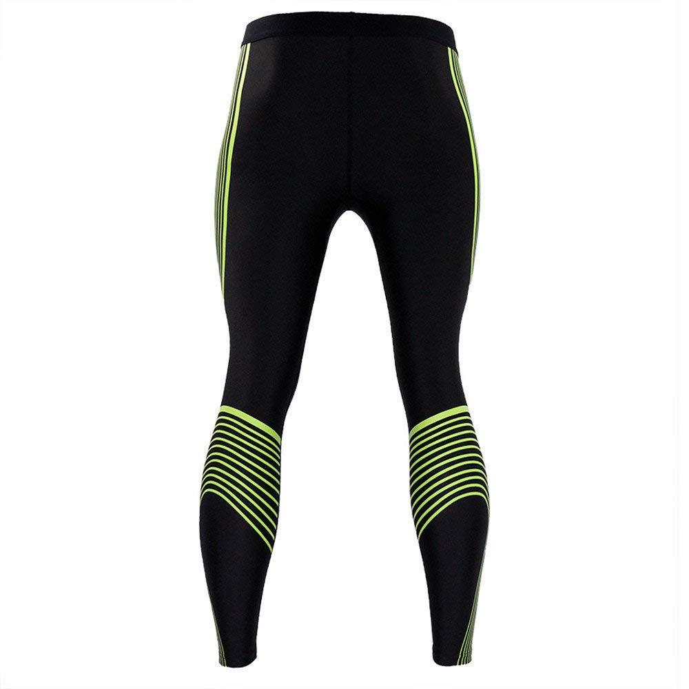 Zilosconcy Impresi/ón de Streamer Pantalones de Compresi/ón Mallas Hombre Secado R/ápido Transpirable Leggings Alta Elasticidad para Running Yoga,Fitness