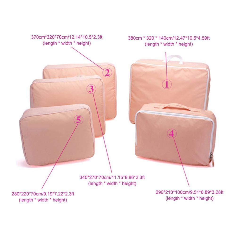 raspbery 5 PCS Embalaje Cubos Bolsas de Viaje Neceseres de Viaje Almacenamiento Bolsas de Equipaje Impermeable para Ropa Zapatos Cosm/éticos Accesorios