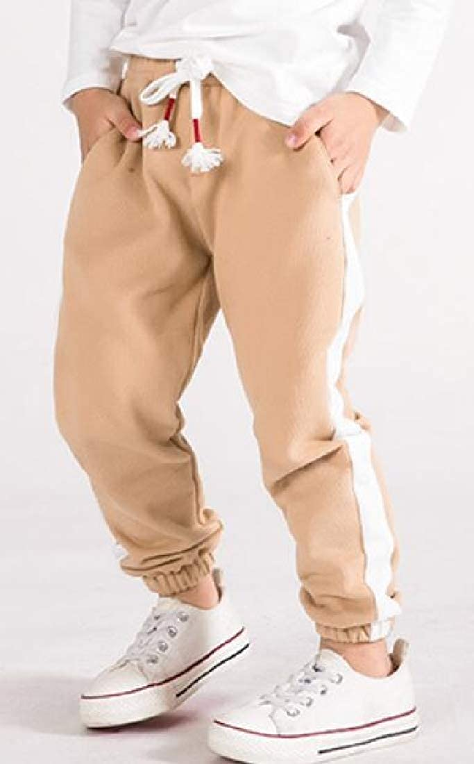 Wofupowga Boys Pull-On Sports Sweatpants Cotton Track Jogging Pants