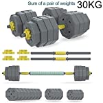 AOLI-Pesi-con-manubri-regolabili-S-Fitness-30Kg-66Ibs-Bilanciere-con-manubri-Combinazione-di-manubri-per-esercizi-in-palestra-a-casa-Allenamento-muscolare-Muscolo-allenamento-muscolare30Kg-66l