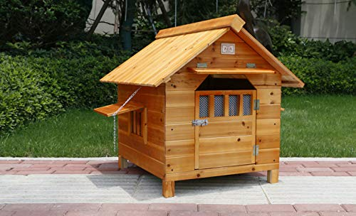 5967cm LLYU Small and Medium-Sized Removable Wooden Floor Kennel, Easy to Clean, rain Cover (Size   59  67cm)