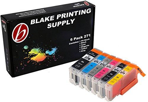 Blake Printing Supply ® 6 Pack Ink Cartridges for CLI-271 270, PGI-270, PGI-270XL CLI-271XL for Printers MG7720, MG6820, MG5720, TS9020, TS8020, TS6020, TS5020