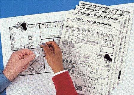Home Quick Planner: Reusable, Peel & Stick Furniture & Architectural Symbols Home Plans