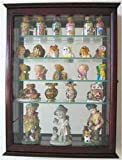 Cherry Small Wall Curio Cabinet Display Case Home Accents For Figurines