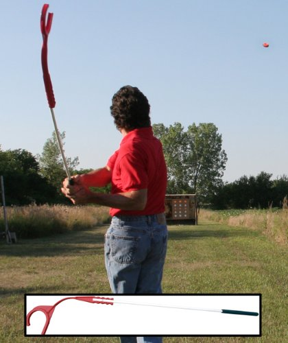 MTM EZ-Throw MR Clay Target Thrower (Extended, Red)