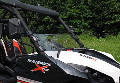 SuperATV Can-Am Maverick SUPER ATV SCRACTH RESISTANT Half Windshield #HWS-CA-MAV (Can Am Maverick Windshield compare prices)