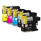 5 Pack - Compatible Ink Cartridges for Brother LC-203 LC-201 LC-203XL LC-203BK LC-203C LC-203M LC-203Y Inkjet Cartridge Compatible With Brother MFC-J4320DW MFC-J4420DW MFC-J4620DW MFC-J5520DW MFC-J5620DW MFC-J5720DW (2 Black, 1 Cyan, 1 Magenta, 1 Yellow) Ink & Toner 4 You ®