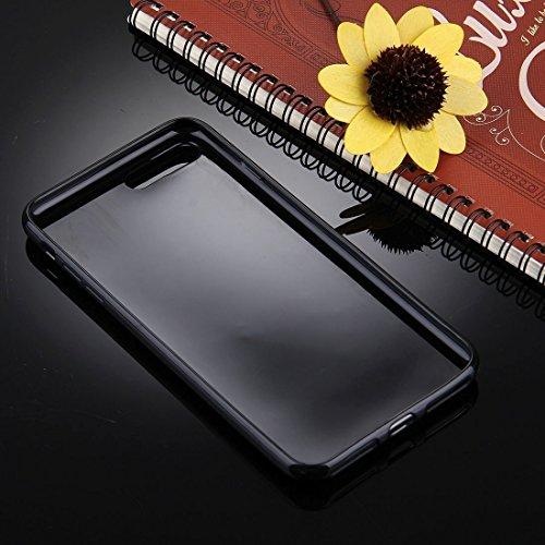 YAN Für iPhone 7 Plus Schwarzer Hintergrund Glitter Powder Soft TPU Schutzhülle