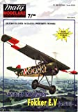 paper scale model Fokker E.V. D VIII (8) 4 pages of parts 5 pages of assembly drawings and instructions in polish language