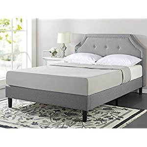 Zinus Lyon Upholstered Button Tufted Platform Bed with Wooden Slat Support