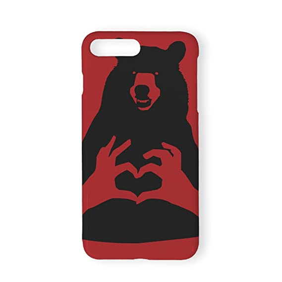 best service fdb74 9b694 Amazon.com: SearchING Black Bear Red Phone Case Cover Protective ...