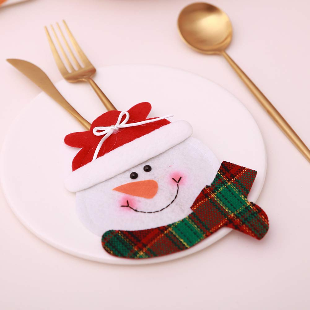 CHoppyWAVE Cutlery Pouch, Christmas Tableware Case Silverware Spoon Fork Holder Pocket Santa Dinner Decor - 3# by CHoppyWAVE (Image #8)
