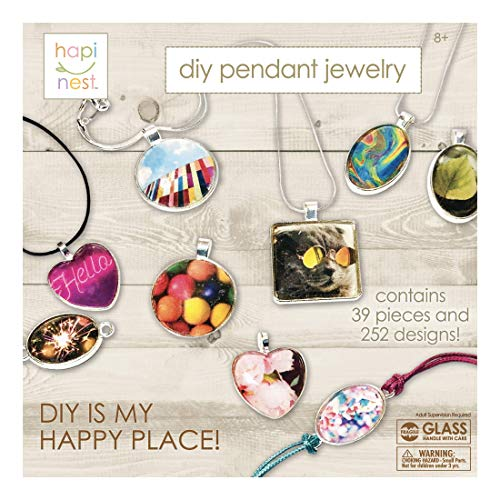 Jewelry Making Kit for Girls Arts and Crafts Gifts Ages 8 9 10 11 12 Years Old – 11 Charm Pendants, 9 Necklaces, 2…