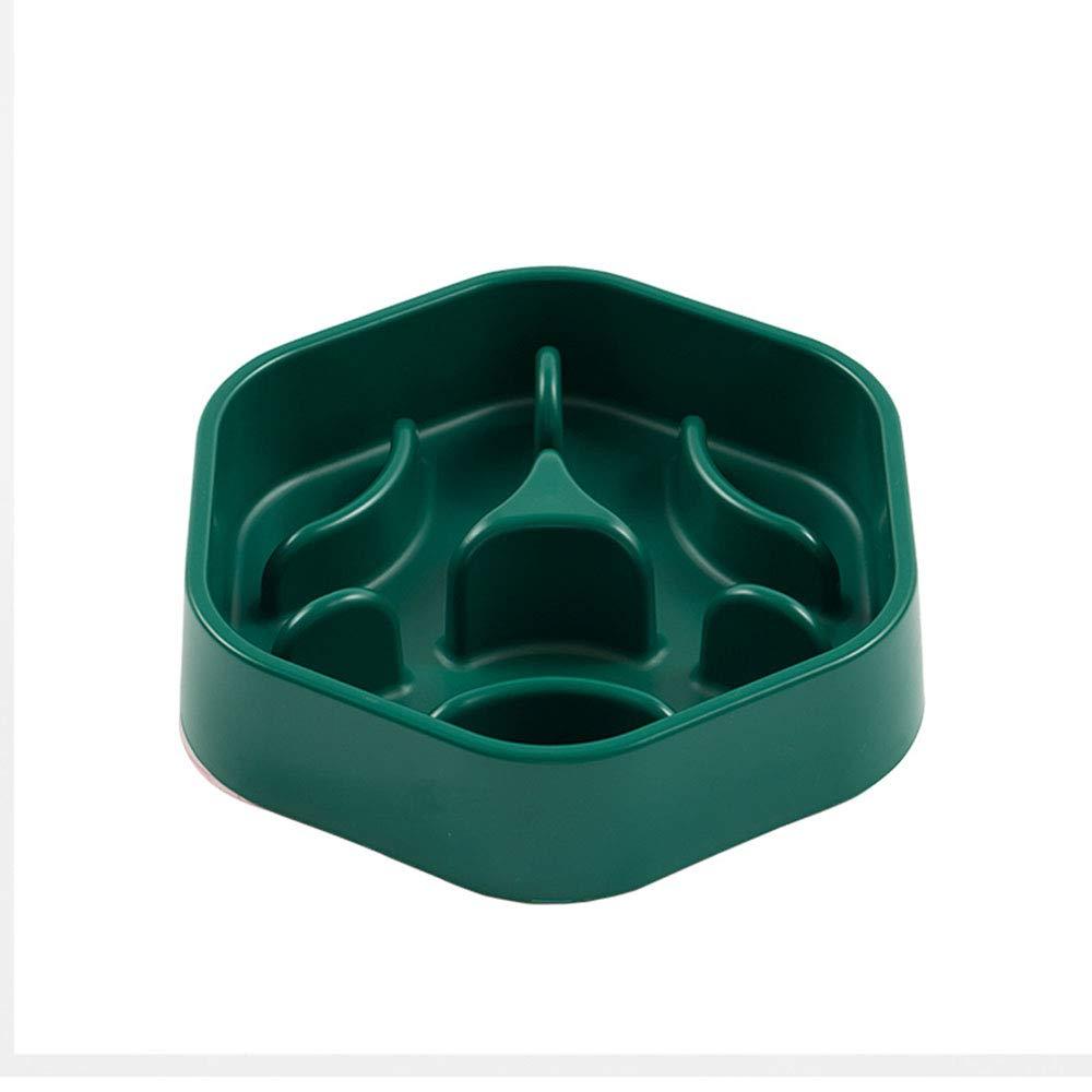 Fun Feeder Slow Feed Interactive Bloat Stop Dog Bowl Dog Drink Water Bowl Dark Green