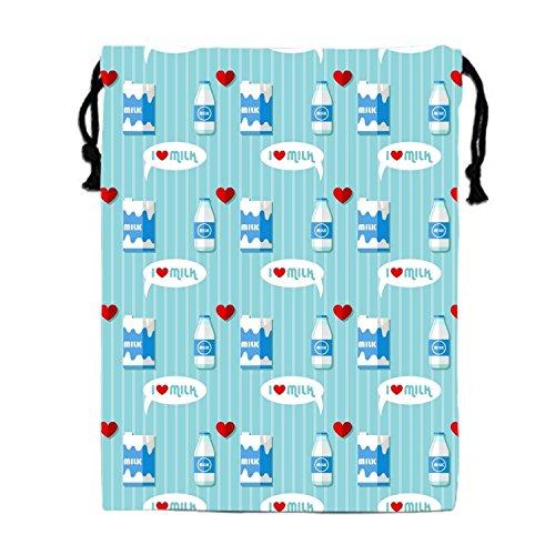 Milk Bottle And Milk Carton Drawstring Bags Waterproof