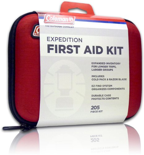 Coleman Camping First Aid Kit an All Purpose First Aid Kit for Emergencies at Home, Car, Workplace, Hiking, or Survival, 205-Pieces (Cold Aid)