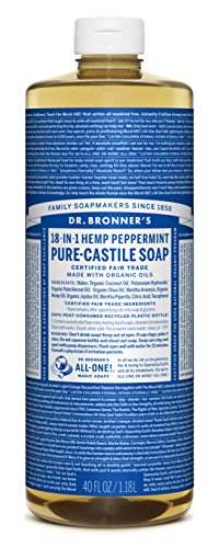 Dr. Bronner's Pure Castile Soap - Peppermint 40 Oz