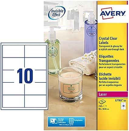 Avery L7783-25 etichetta per stampante