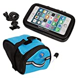 Rory Tory 3pc Weather Resistant Bike Mount Phone Case For iPhone 6 or Similar Size with Under Seat Bag Pouch - Large