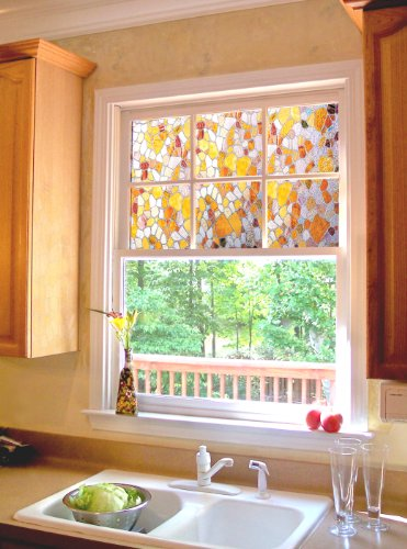 Artscape first stained glass window film 24 x 36 buy for Order house windows online