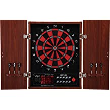 Viper Neptune Electronic Dartboard, Classic Cabinet Door Style, Huge Dart Catch Area For Missed Darts, Target Test Tough Segments For Lasting Durability, Extended Spanish Cricket Scoreboard For 4 Players, Classic Look Fits In Traditional Decors, 57 Games 307 Options