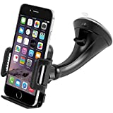 Car Mount Holder, Getron Windshield Dashboard Universal Car Cell Phone Cradle for iPhone X 8 Plus 8 7 Plus 6S 6 SE 5S Samsung Galaxy S8 Plus S7 Edge Note 8 Google Pixel 2 XL LG G6 and All Smartphones