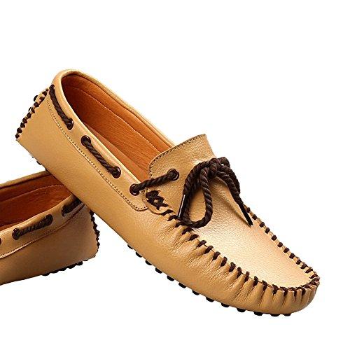 Santimon Mocassini In Pelle Da Uomo Mocassini Penny-mocassini Driving Shoes Giallo