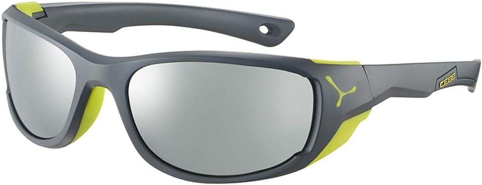 Cébé Jorasses M Gafas de Sol Matt Grey Lime Medium, Unisex Adulto
