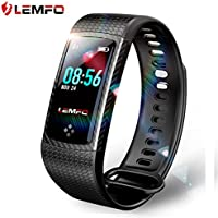 LEMFO Fitness Tracker Color Screen Heart Rate Monitor...