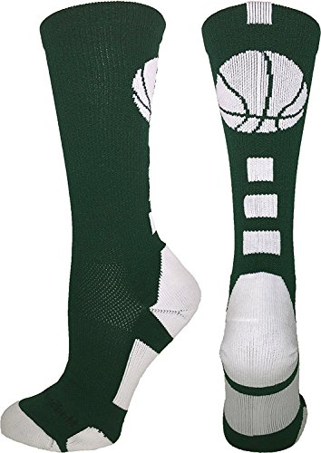 MadSportsStuff Basketball Logo Athletic Crew Socks, Small - Dark ()