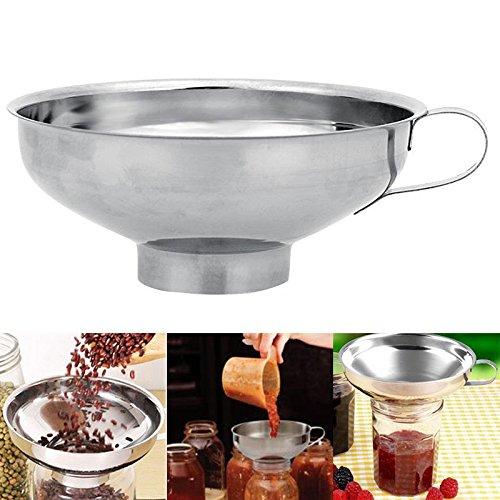Kitchenware Colander - 1 Pc Stainless Steel Food Funnel Hopper Filter Jam Maker Strainer Colander Home Kitchen Cooking Tools Kitchenware # L