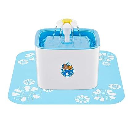 QFFL chongwuyinshuiji Dispensador del Agua del Animal doméstico, Azul el 19 * 16cm del Bebedor
