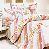 Blancho Bedding - [Pink Princess] 100% Cotton 4PC Comforter Cover/Duvet Cover Combo (King Size)